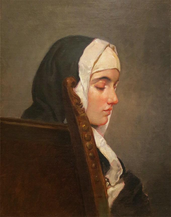 Hayez Francesco Nudo di donna stante artista quadro dipinto olio su tela a mano